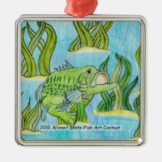 Winning Art By C. Warren Grade 4 Metal Ornament