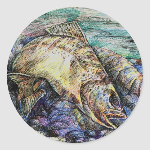 Winning Art By D. Lin  Grade 10 Classic Round Sticker