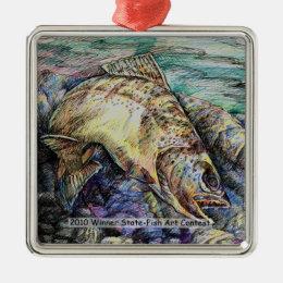 Winning Art By D. Lin  Grade 10 Metal Ornament
