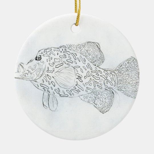 Winning art by  D. Robins - Grade 4 Ceramic Ornament