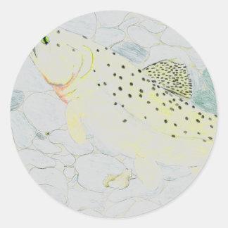 Winning Art By E. Boulter Grade 9 Classic Round Sticker