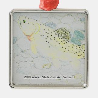 Winning Art By E. Boulter Grade 9 Metal Ornament