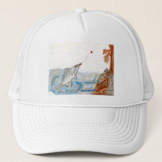Winning art by  E. McKinney II - Grade 6 Trucker Hat
