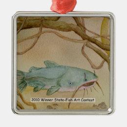 Winning Art By E. Nelson Grade 7 Metal Ornament