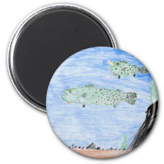 Winning art by  E. Riley - Grade 4 2 Inch Round Magnet