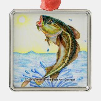 Winning Art By E. Zhao Grade 5 Metal Ornament