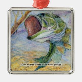 Winning Art By G. Shin Grade 7 Metal Ornament