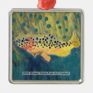 Winning Art By G. Van Ness Grade 7 Metal Ornament