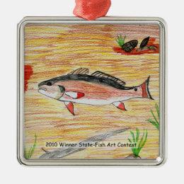Winning Art By H. Miller Grade 6 Metal Ornament