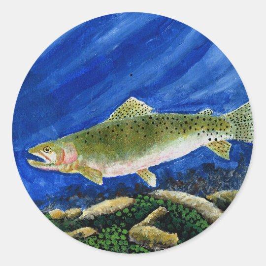 Winning Art By I. Walker Grade 4 Classic Round Sticker