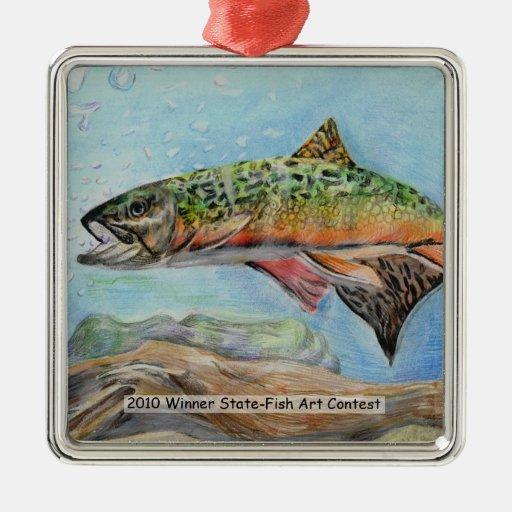 Winning Art By J. Choi Grade 9 Ornaments