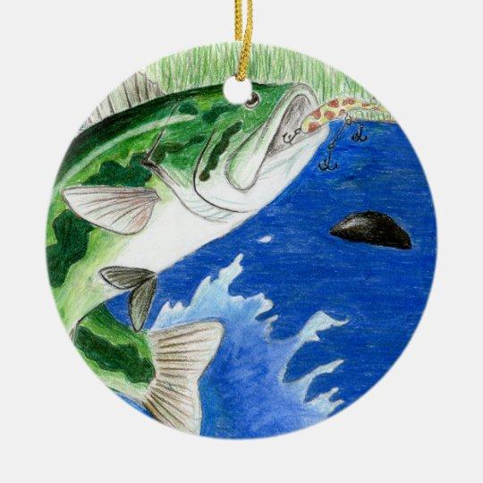 Winning art by  J. Compy - Grade 8 Ceramic Ornament