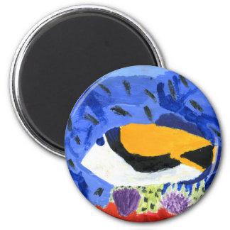 Winning art by  J. Geouge - Grade 5 2 Inch Round Magnet