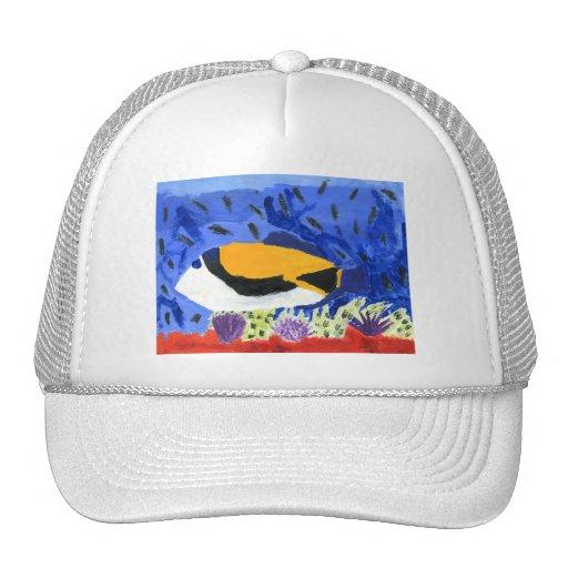 Winning art by  J. Geouge - Grade 5 Trucker Hat