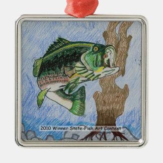 Winning Art By J. Richardson Grade 9 Metal Ornament