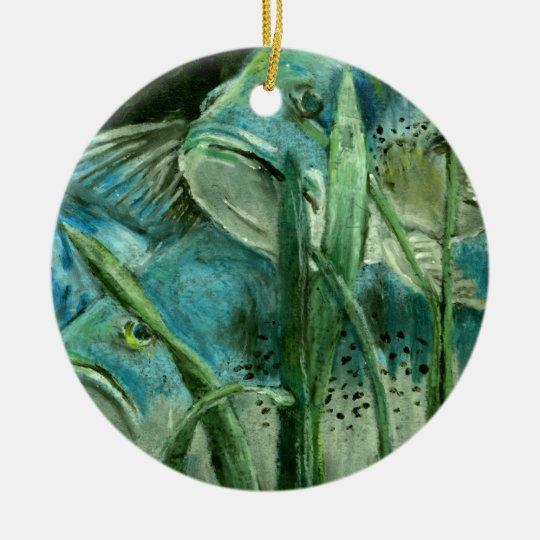 Winning art by  J. Tufele - Grade 9 Ceramic Ornament