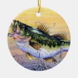 Winning art by  J. Varpucanskis - Grade 7 Double-Sided Ceramic Round Christmas Ornament