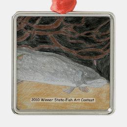 Winning Art By J. Wendel Grade 8 Metal Ornament