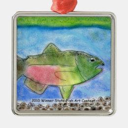 Winning Art By J. Wilson Grade 5 Metal Ornament