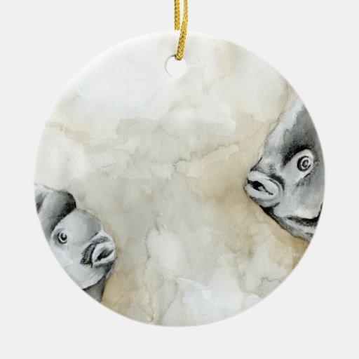 Winning art by  K. Hepp - Grade 11 Ceramic Ornament