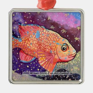 Winning Art By K. Ye Grade 4 Metal Ornament