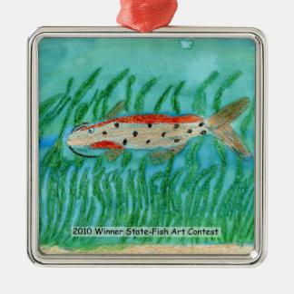 Winning Art By M. Shaffer Grade 5 Square Metal Christmas Ornament