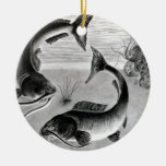 Winning art by  N. Bui - Grade 10 Double-Sided Ceramic Round Christmas Ornament