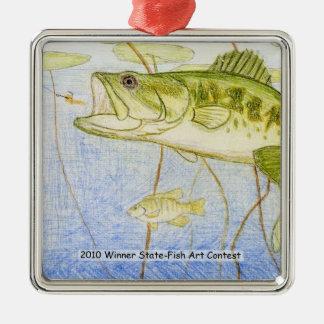 Winning Art By N. Rowe Grade 4 Metal Ornament
