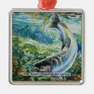 Winning Art By S. Chun Grade 11 Metal Ornament