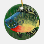 Winning art by  S. Darring - Grade 8 Double-Sided Ceramic Round Christmas Ornament