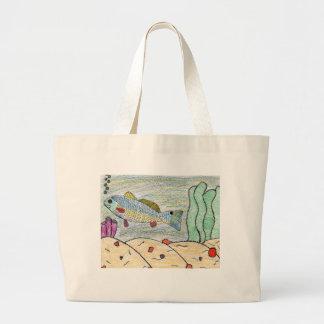 Winning Art By T. Bitterman Grade 5 Large Tote Bag