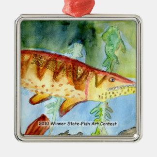 Winning Art By T. Hill Grade 5 Metal Ornament