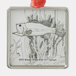 Winning Art By T. Kennedy Grade 7 Metal Ornament