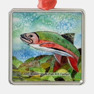 Winning Art By T. Phillips Grade 4 Metal Ornament
