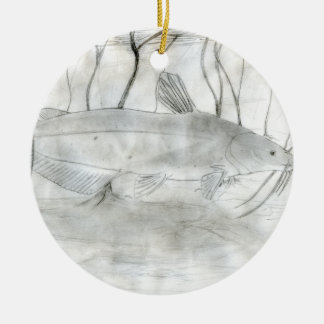 Winning art by  W. Bryant - Grade 11 Ceramic Ornament