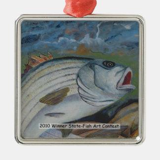 Winning Art By W. Riser Grade 12 Metal Ornament