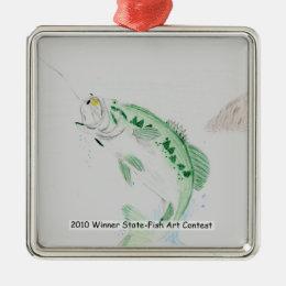 Winning Art By W. Walton Grade 12 Metal Ornament