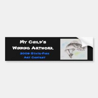 Winning artwork by A. Overby, Grade 8 Car Bumper Sticker
