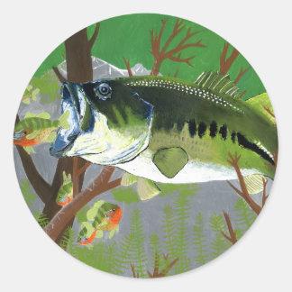 Winning artwork by B. King, Grade 7 Round Sticker