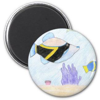 Winning artwork by B. Leon, Grade 6 2 Inch Round Magnet