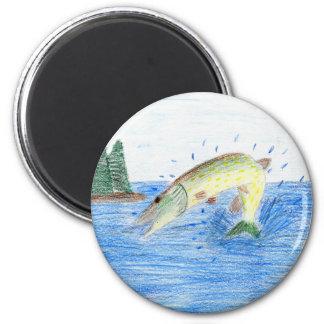 Winning artwork by C. Dahlen, Grade 7 2 Inch Round Magnet