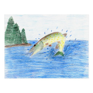 Winning artwork by C. Dahlen, Grade 7 Postcard