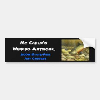 Winning artwork by C. Mowery, Grade 10 Bumper Sticker