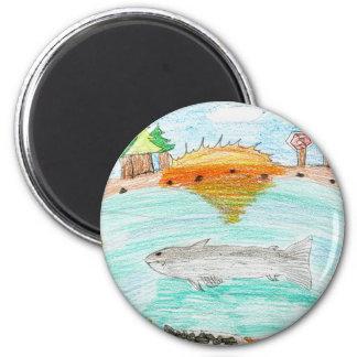 Winning artwork by C. Rousseau, Grade 4 2 Inch Round Magnet