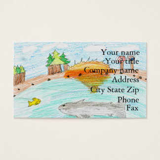 Winning artwork by C. Rousseau, Grade 4 Business Card