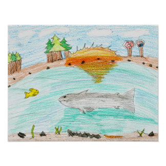 Winning artwork by C. Rousseau, Grade 4 Posters