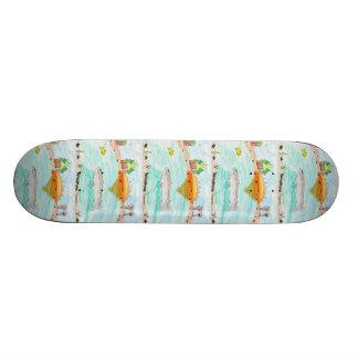 Winning artwork by C. Rousseau, Grade 4 Skateboard Deck