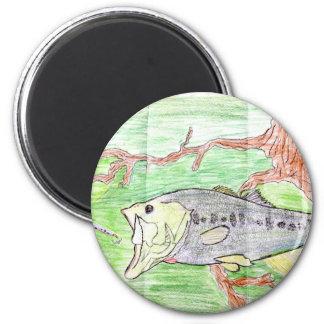 Winning artwork by C. Spencer, Grade 7 2 Inch Round Magnet