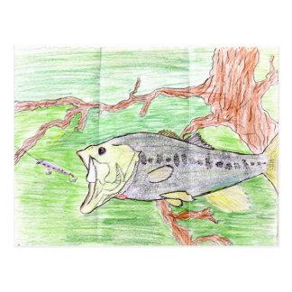 Winning artwork by C. Spencer, Grade 7 Postcard
