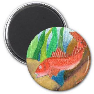 Winning artwork by D. Gutierrez, Grade 8 2 Inch Round Magnet